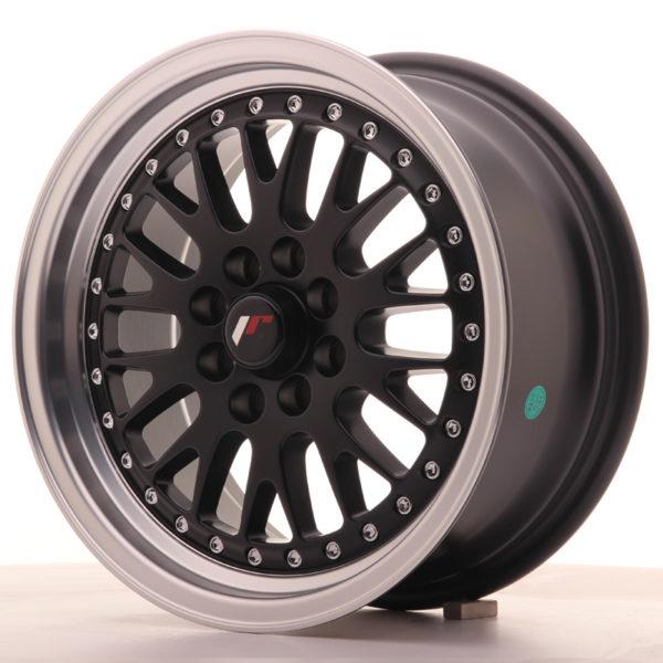 JR Wheels JR10 15x7 ET30 4x100/108 Matt Black w/Machined Lip