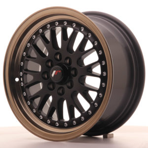 JR Wheels JR10 15x7 ET30 4x100/108 Matt Black w/Anodized Bronze Lip