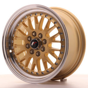 JR Wheels JR10 15x7 ET30 4x100/108 Gold w/Machined Lip