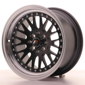 JR Wheels JR10 15x8 ET20 4x100/108 Matt Black w/Machined Lip