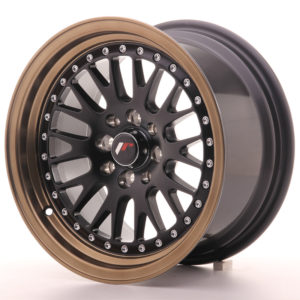 JR Wheels JR10 15x8 ET20 4x100/108 Matt Black w/Anodized Bronze Lip