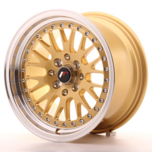 JR Wheels JR10 15x8 ET20 4x100/108 Gold w/Machined Lip