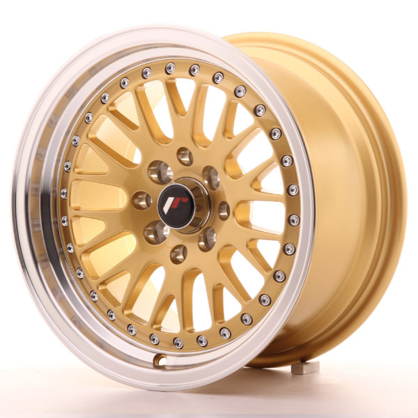 JR Wheels JR10 15x8 ET20 4x100/108 Gold w/Machined Lip