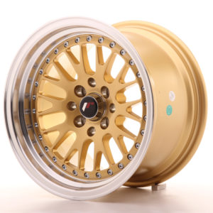 JR Wheels JR10 15x9 ET10 4x100/114 Gold w/Machined Lip