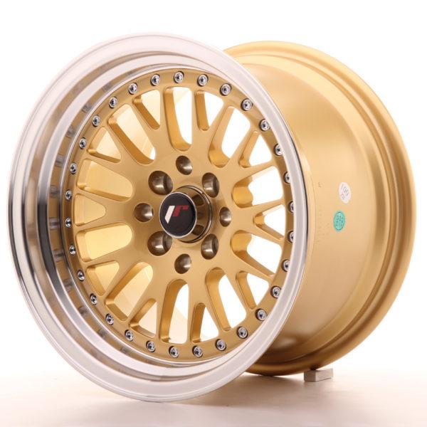 JR Wheels JR10 15x9 ET10 4x100/114 Gold w/Machined Lip