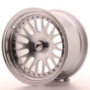 JR Wheels JR10 15x9 ET0-20 BLANK Silver Machined Face