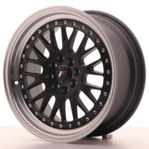 JR Wheels JR10 16x7 ET30 4x100/108 Matt Black w/Machined Lip