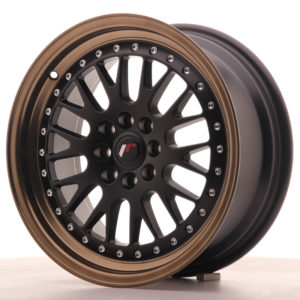 JR Wheels JR10 16x7 ET30 4x100/108 Matt Black w/Anodized Bronze Lip