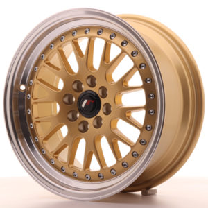 JR Wheels JR10 16x7 ET30 4x100/108 Gold w/Machined Lip