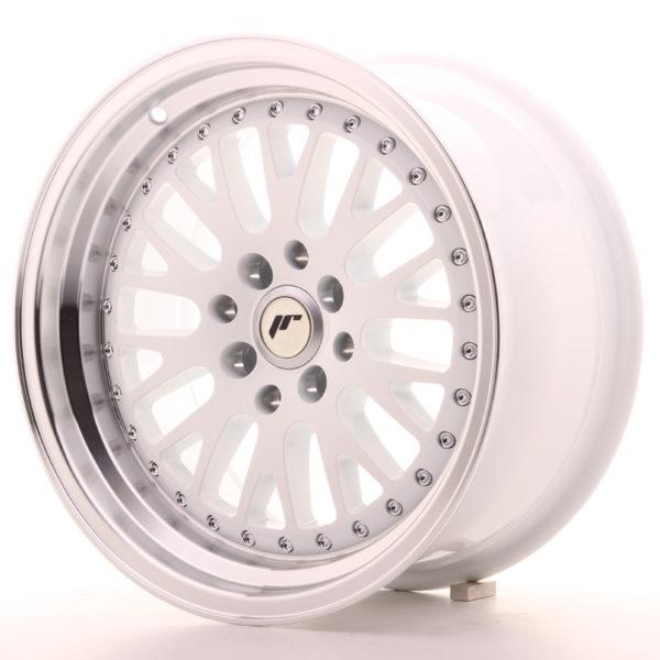 JR Wheels JR10 16x8 ET10 4x100/114 White w/Machined Lip