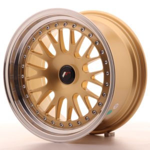 JR Wheels JR10 16x8 ET20 BLANK Gold w/Machined Lip