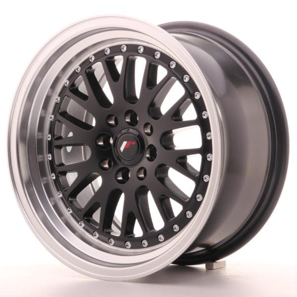 JR Wheels JR10 16x8 ET20 4x100/108 Matt Black w/Machined Lip