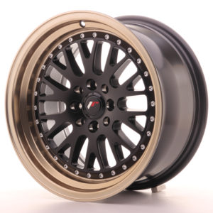 JR Wheels JR10 16x8 ET20 4x100/108 Matt Black w/Anodized Bronze Lip