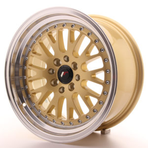 JR Wheels JR10 16x8 ET20 4x100/108 Gold w/Machined Lip
