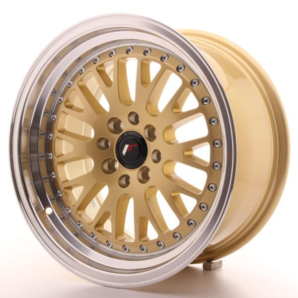 JR Wheels JR10 16x8 ET20 4x100/108 Gold w/Machined Lip