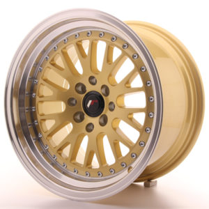 JR Wheels JR10 16x9 ET10 4x100/114 Gold w/Machined Lip
