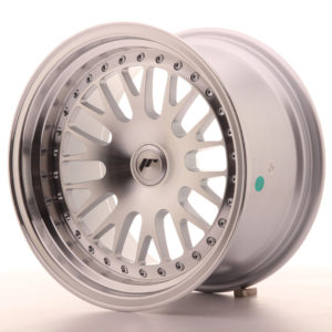 JR Wheels JR10 16x9 ET10-20 BLANK Silver Machined Face