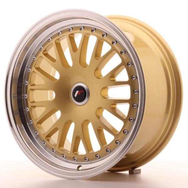 JR Wheels JR10 17x8 ET35 BLANK Gold w/Machined Lip