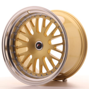 JR Wheels JR10 19x11 ET15-30 BLANK Gold w/Machined Lip