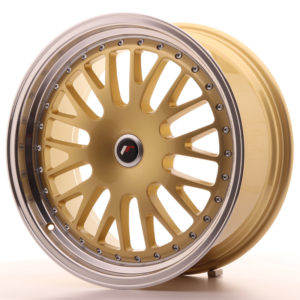 JR Wheels JR10 19x8,5 ET20-35 BLANK Gold w/Machined Lip