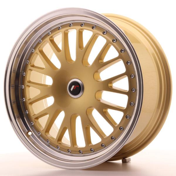 JR Wheels JR10 19x8,5 ET20-35 BLANK Gold w/Machined Lip