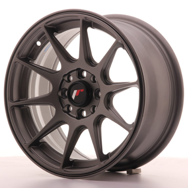 JR Wheels JR11 15x7 ET30 4x100/108 Matt Gun Metal