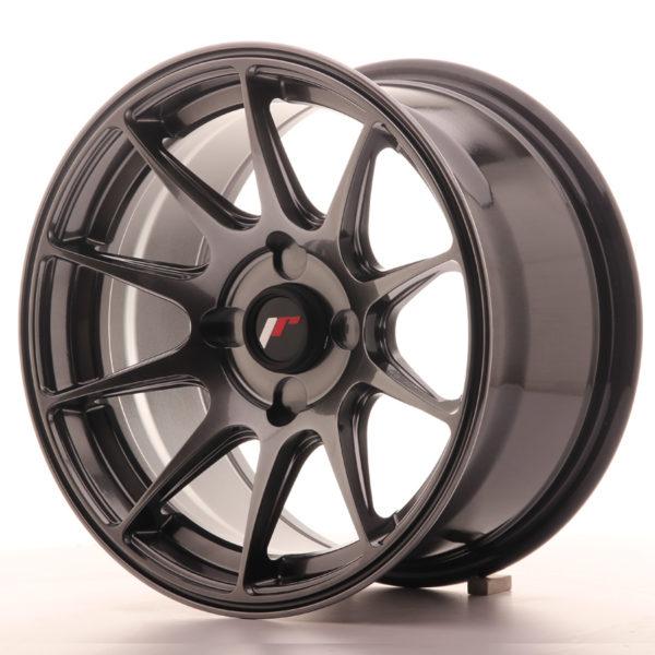 JR Wheels JR11 15x8 ET25 4H BLANK Dark Hyper Black