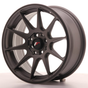 JR Wheels JR11 16x7 ET30 4x100/114 Matt Gun Metal