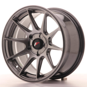 JR Wheels JR11 16x8 ET25 5H BLANK Dark Hyper Black