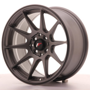 JR Wheels JR11 16x8 ET25 4x100/108 Matt Gun Metal