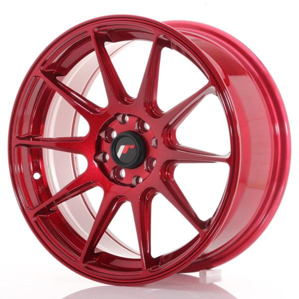 JR Wheels JR11 17x7,25 ET35 4x100/114,3 Platinum Red