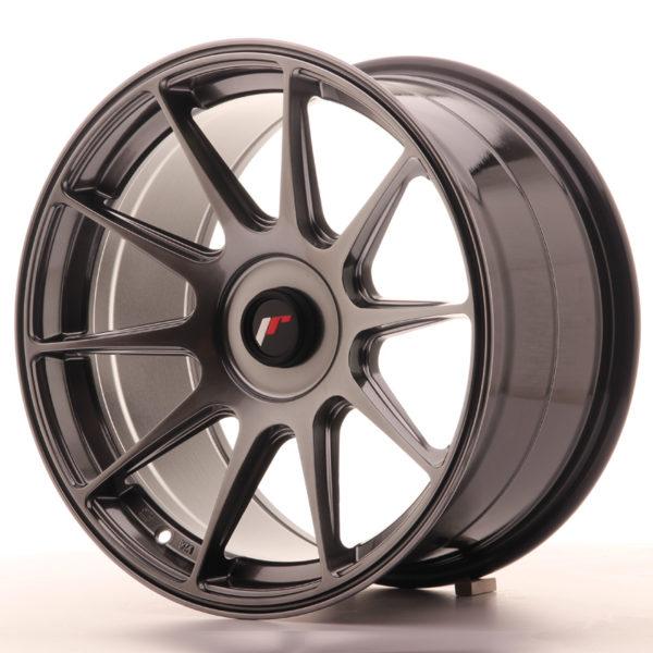JR Wheels JR11 17x9 ET25-35 BLANK Hyper Black