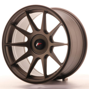 JR Wheels JR11 17x9 ET25-35 BLANK Matt Bronze