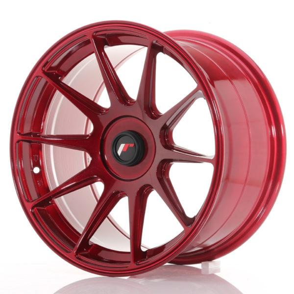 JR Wheels JR11 17x9 ET25-35 BLANK Platinum Red