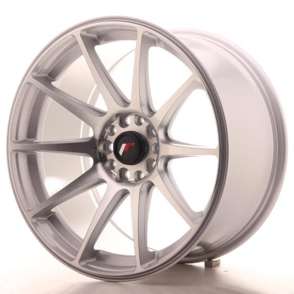 JR Wheels JR11 18x9,5 ET30 5x112/114 Silver Machined Face