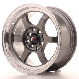 JR Wheels JR12 15x7,5 ET26 4x100/108 Gun Metal w/Machined Lip