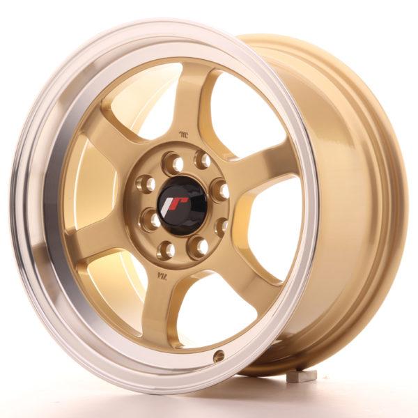 JR Wheels JR12 15x7,5 ET26 4x100/114 Gold w/Machined Lip