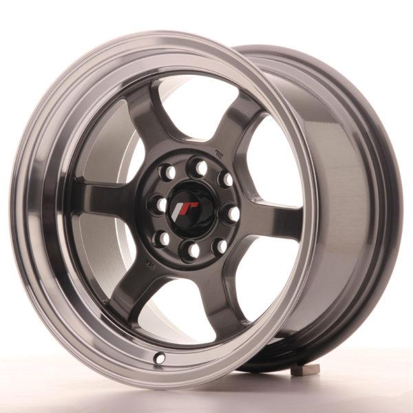 JR Wheels JR12 15x8,5 ET13 4x100/114 Gun Metal w/Machined Lip