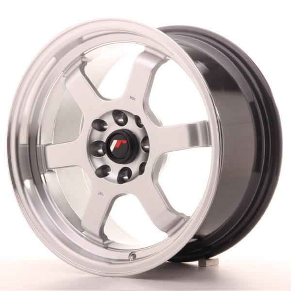 JR Wheels JR12 16x8 ET15 4x100/114 Hyper Silver w/Machined Lip
