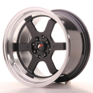 JR Wheels JR12 16x9 ET10 4x100/114 Gloss Black w/Machined Lip