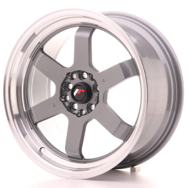 JR Wheels JR12 17x8 ET33 5x100/114 Gun Metal w/Machined Lip