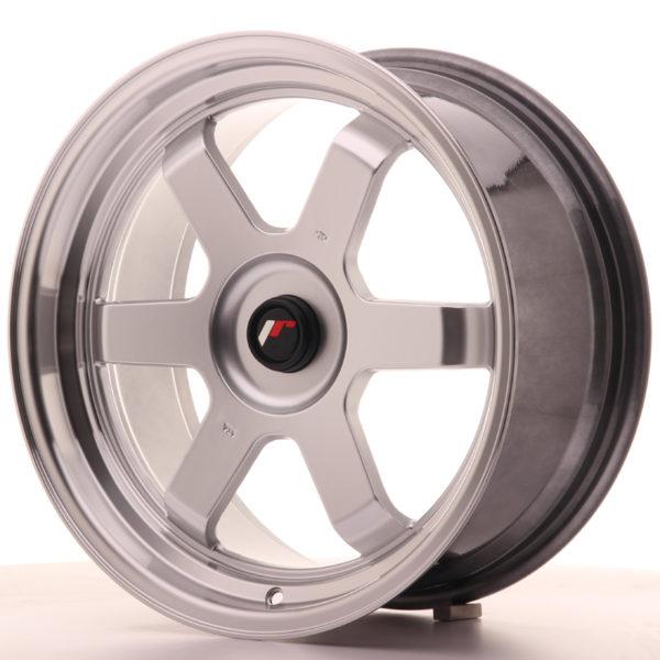 JR Wheels JR12 17x8 ET35 BLANK Hyper Silver w/Machined Lip