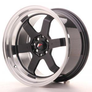 JR Wheels JR12 17x9 ET25 4x100/114 Gloss Black w/Machined Lip