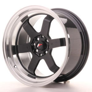 JR Wheels JR12 17x9 ET25 5x100/114 Gloss Black w/Machined Lip
