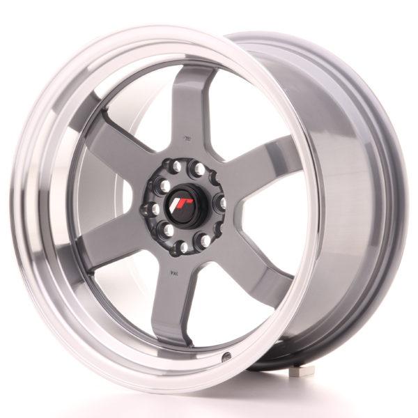 JR Wheels JR12 17x9 ET25 5x100/114 Gun Metal w/Machined Lip