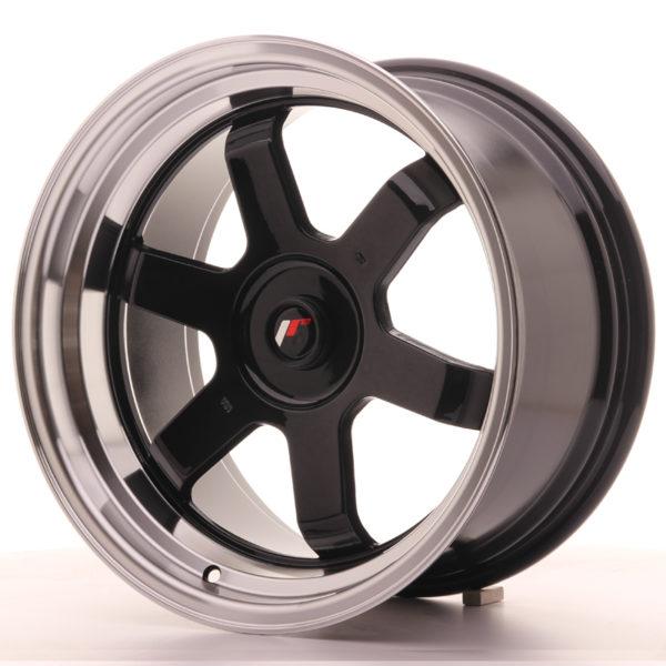 JR Wheels JR12 17x9 ET25 BLANK Gloss Black w/Machined Lip