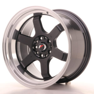 JR Wheels JR12 18x10 ET20 5x114/120 Gloss Black w/Machined Lip