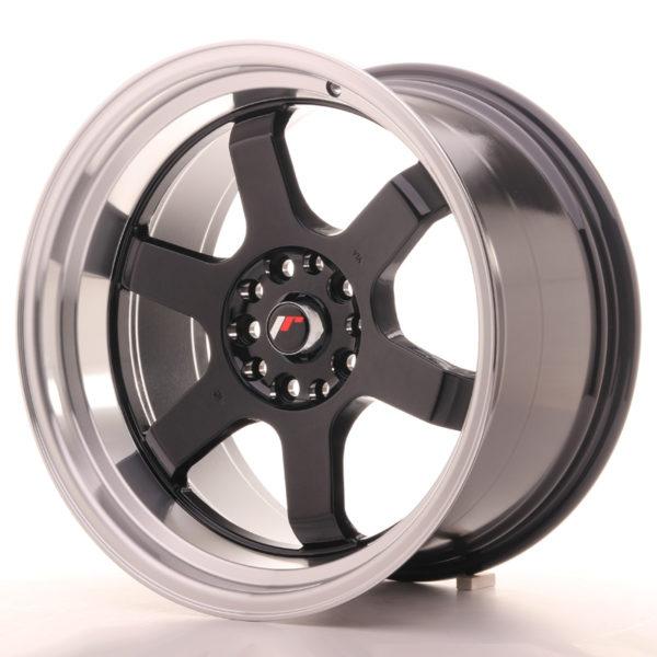 JR Wheels JR12 18x10 ET20 5x114/120 Gloss Black w/Machined Lip