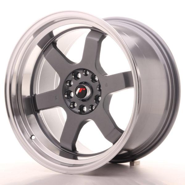 JR Wheels JR12 18x10 ET20 5x114/120 Gun Metal w/Machined Lip