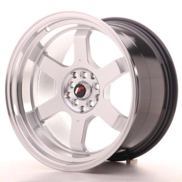 JR Wheels JR12 18x10 ET20 5x114/120 Hyper Silver w/Machined Lip